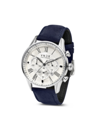 The Boss Leather White Blue