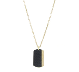 Necklace Dogtag - Dore