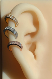 Karma earcuff - double strass