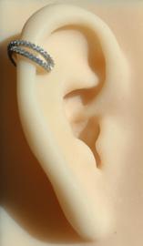 Karma earcuff - double line strass