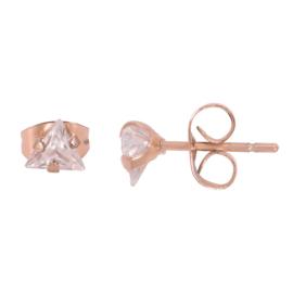 iXXXi Ear Studs Triangle Stone - Rosé