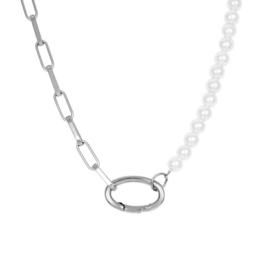 iXXXi collier Square Chain Pearl - Zilver