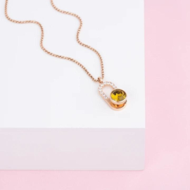 Melano Jewelry Twisted Golden Sparkles Ketting Set
