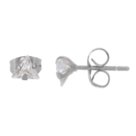 iXXXi Ear Studs Triangle Stone - Zilver