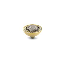 twisted 10 mm CZ -  Black diamond