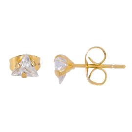 iXXXi Ear Studs Triangle Stone - Goud