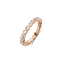 Friends ring Wave CZ - Crystal