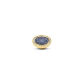 Vivid 'Engraved Resin CZ' top - Blue Crystal