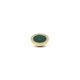 Vivid 'Engraved Resin CZ' top - Green Crystal