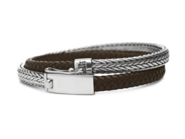 344 BRU Alpha wrap armband brown - Silk