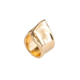 UNOde50 Ring - THE CREVICE   GOLD
