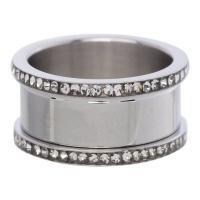 iXXXi basisring - zilver met zirkonia
