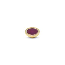 Vivid 'Engraved Resin CZ' top -  Fuchsia Crystal