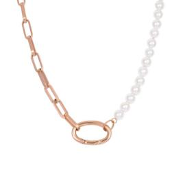 iXXXi collier Square Chain Pearl - Rosé