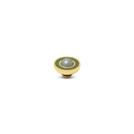 Vivid 'Resin Pearl' top - Olive Light Green