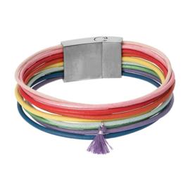 Brace armband - rainbow tassel