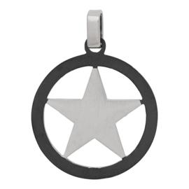 iXXXi Men - hanger Star Silver mat zwart/zilver