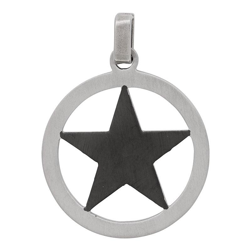iXXXi Men - hanger Star Black mat zwart/zilver