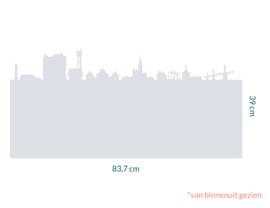 raamfolie op maat • skyline • 83,7 cm x 39 cm