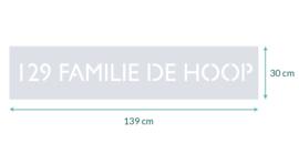raamfolie op maat • 129 Familie de Hoop