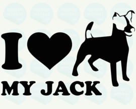 auto sticker • I love my jack russell