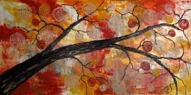 schilderij De gekke boom, 100 x 50 cm