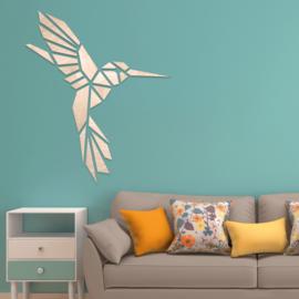 houten wanddecoratie • Origami Kolibrie