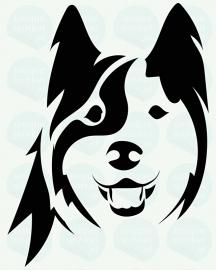 auto sticker • husky 2