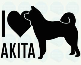 auto sticker • I love akita