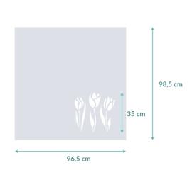 raamfolie op maat • Drie tulpen • 96,5 x 98,5 cm