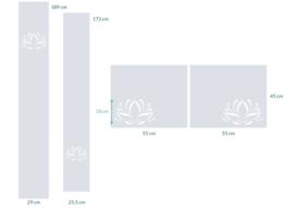 raamfolies op maat • Lotus • 4 stuks