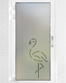 verticale statische raamfolie  •  Modern; Flexibel; Flamingo!
