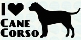 auto sticker • I love cane corso 2