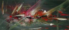 schilderij Abstracte fantasie, 70 x 30 cm