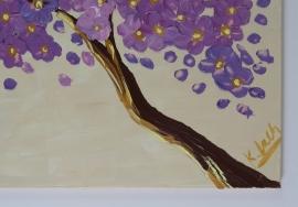 schilderij Bosbes met vanille boom, 100 x 50 cm