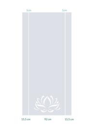 raamfolies op maat • Lotus 125 x 260 cm