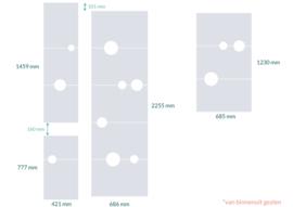 raamfolies op maat • Bollen • 4 stuks