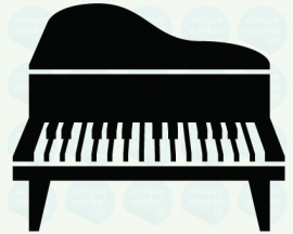 auto sticker • piano