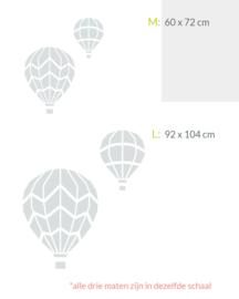 houten wanddecoratie • Luchtballonnen