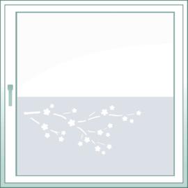 statische raamfolie • Bloeiende kersentakken