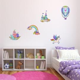 muursticker voor kinderen - zwevende zeilen