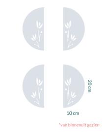 raamfolie op maat • Bloemen • 4 stuks