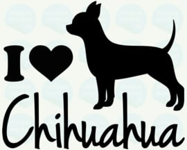 auto sticker • I love chihuahua
