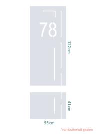 raamfolie op maat met huisnummer • 2 stuks
