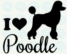 auto sticker • I love poodle