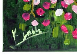 schilderij Roze harmonie, 80 x 60 cm