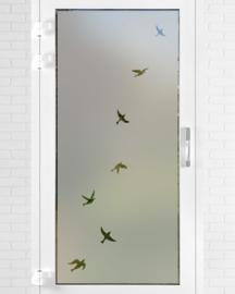 verticale statische raamfolie  •  Vrije vogels