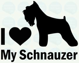 auto sticker • I love my schnauzer