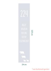 raamfolie op maat met namen • 24 x 125 cm