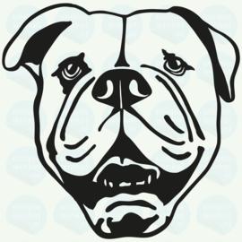 auto sticker • amerikaanse bulldog 3